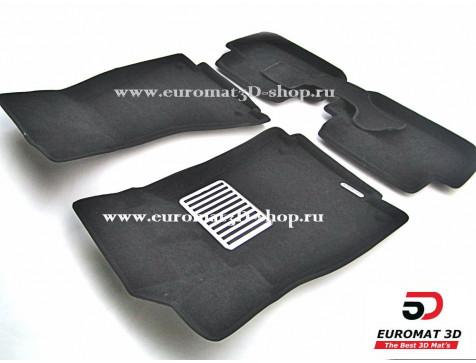 Текстильные 3D коврики Euromat3D Lux в салон для Audi A4 (2007-2015) № EM3D-001103
