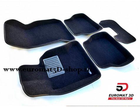 Текстильные 3D коврики Euromat3D Business в салон для Bmw 5 (E39) (1995-2003) № EMC3D-001204