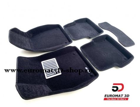 Текстильные 3D коврики Euromat3D Lux в салон для Audi A6 (2004-2010) № EM3D-001109