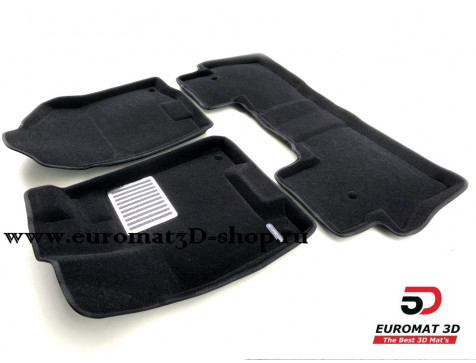 Текстильные 3D коврики Euromat3D Lux в салон для Acura MDX (2014-) № EM3D-000002